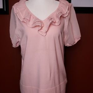 NWT Cable & Gauge pink blouse